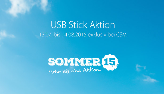 CSM Sommeraktion 2015: USB Stick Aktion