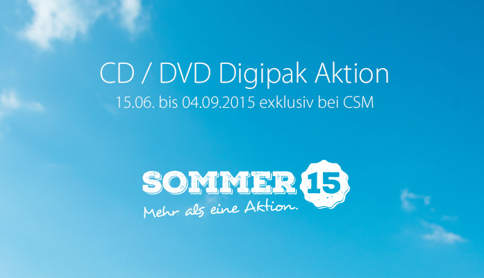 CSM Sommeraktion 2015: CD/DVD Digipak Bundles