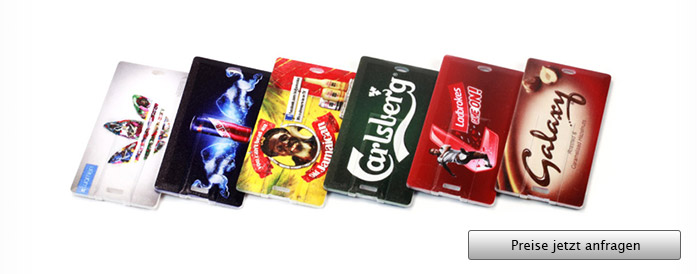 USB Card Rectangle mit Logo - Angebot anfordern...