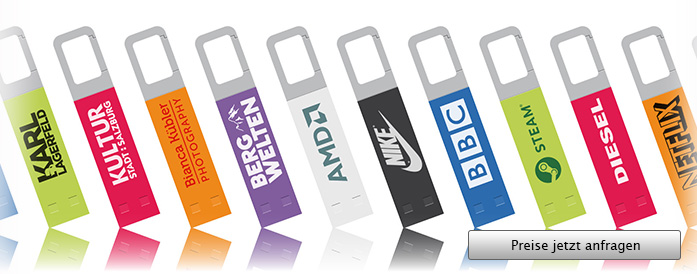 Iron Hook Color USB Stick mit Logo - Angebot anfordern...