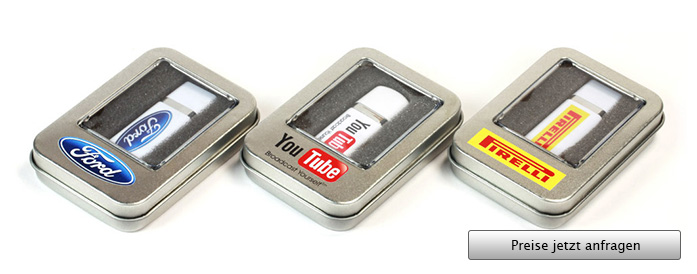 Mini Window Tin Box USB Stick Verpackung