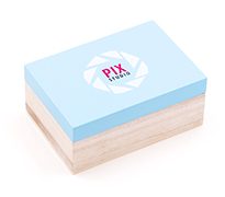 Pastel Box USB Stick Verpackung aus Holz