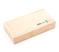 Photo Box Rectangle USB Stick Verpackung aus Holz