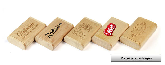 Wooden Flip Box USB Stick Verpackung
