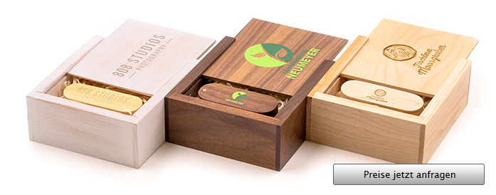 Wooden Trinket Box USB Stick Verpackung