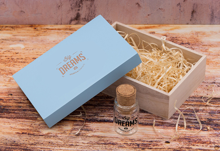 Cork Bottle & Pastel Box